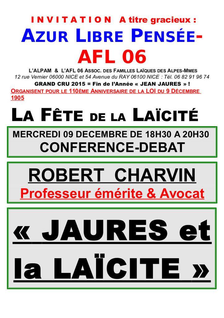 Fête de la Laïcité à Nice le 9 décembre 2015