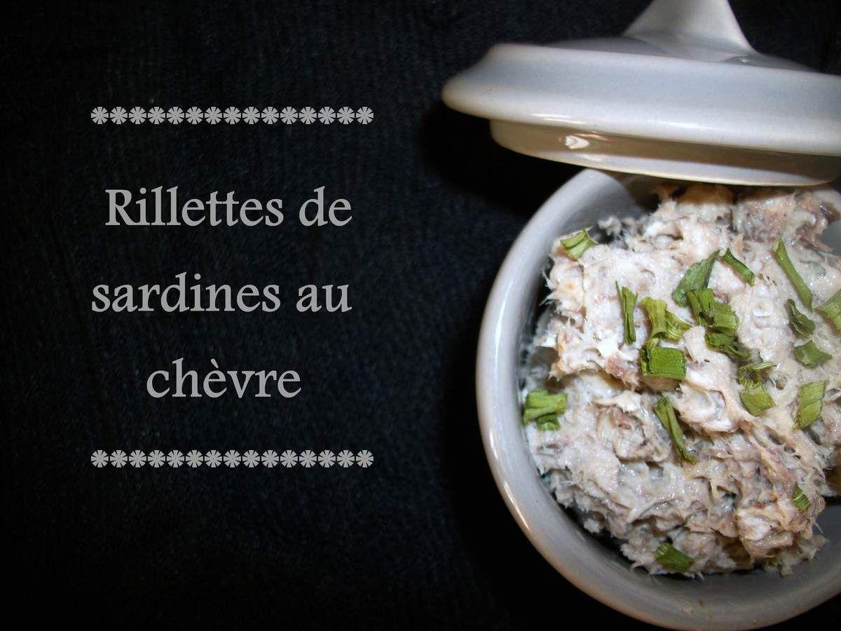 Rillettes de sardines au chèvre