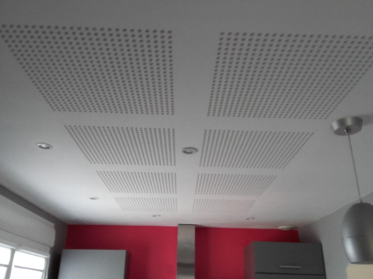 plafond ba13 décor motif carré autres modèles disponible!
