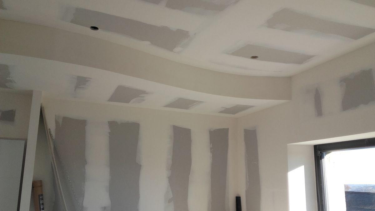 plafond en vague réalisation en ba 13