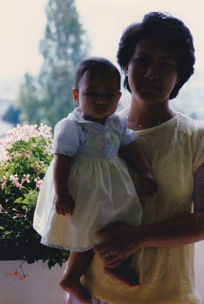 Avec ma fille (Août 1988)