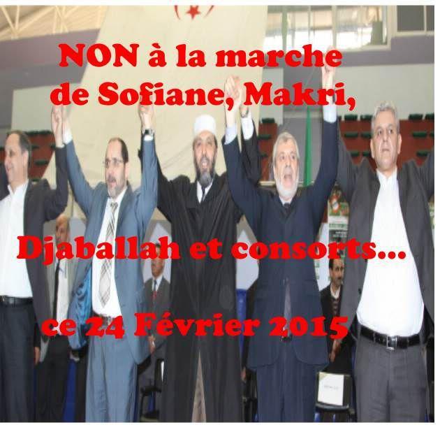 24 Février 2015 (2), NON à l'Appel de la CNLTD de Makri, لا لمخربين الجزائر
