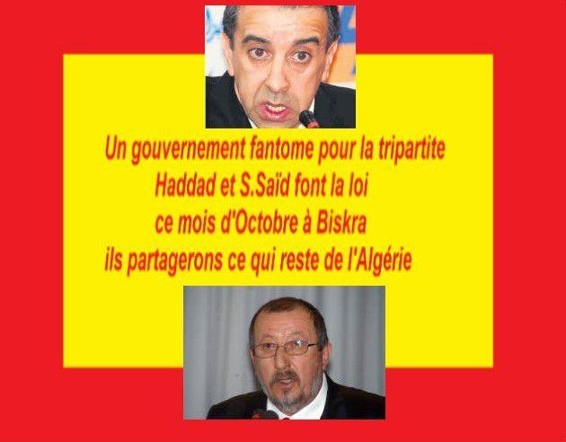 Algérie, &quot&#x3B;tripartite 2015&quot&#x3B; le partage équitable entre le patronat (haddad) et le gouvernement et s.saïd de l'U.G.T.A.