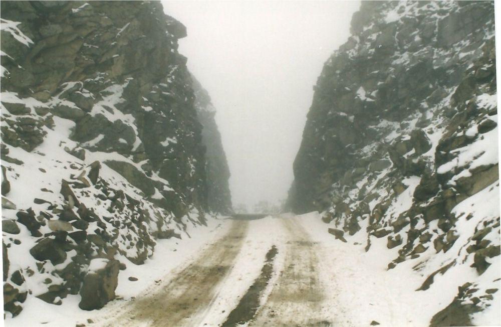 Le passage du col de Portachuelo de Llanganuca à 4770. sous la neige!!