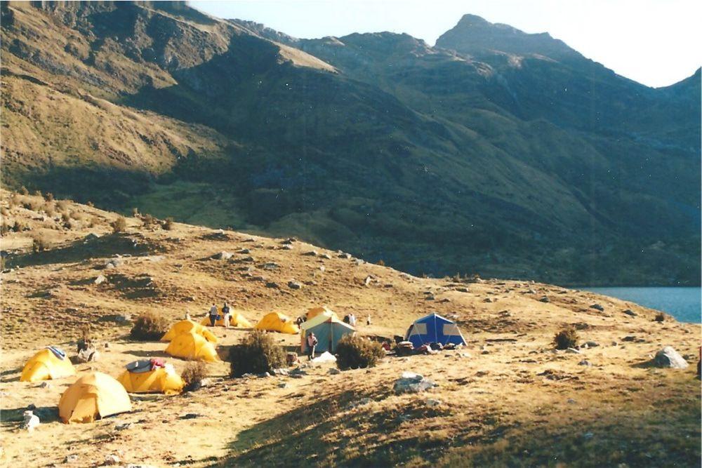 L'arrivée au campement de Huecrococha