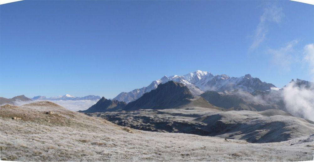 Vue générale du sommet au col de la Gitte