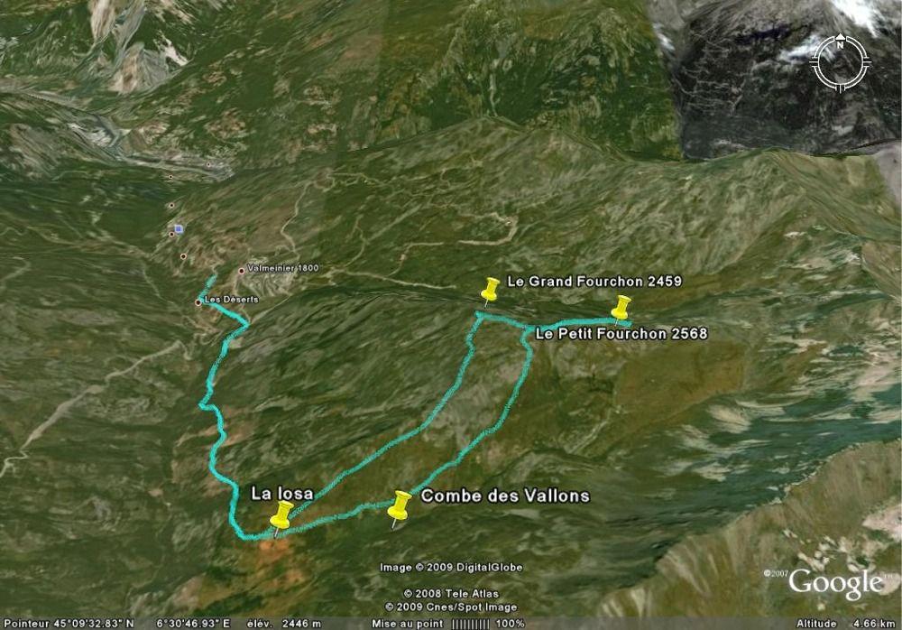 Tracé Google Earth