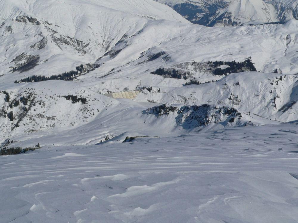 Vue sur le barrage de la Girotte