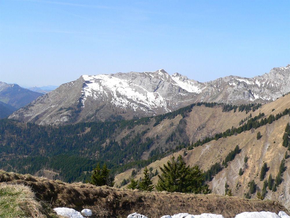 Vue sur le Mont de la Coche