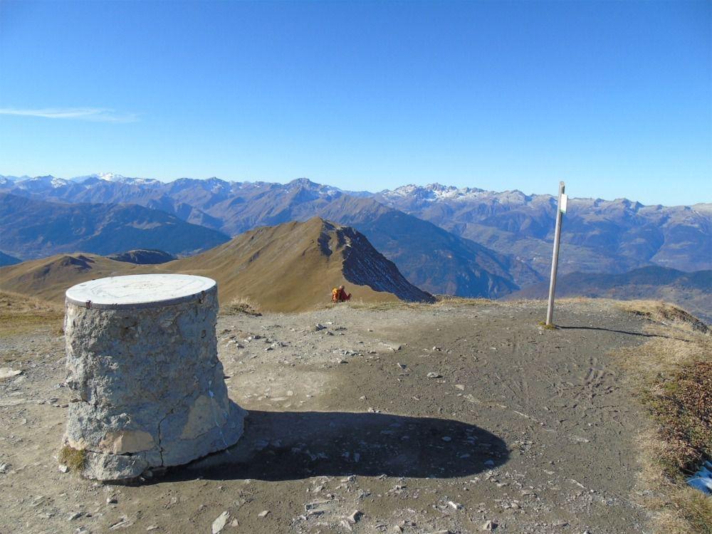 Le sommet du Mont Jovet avec sa table panoramique