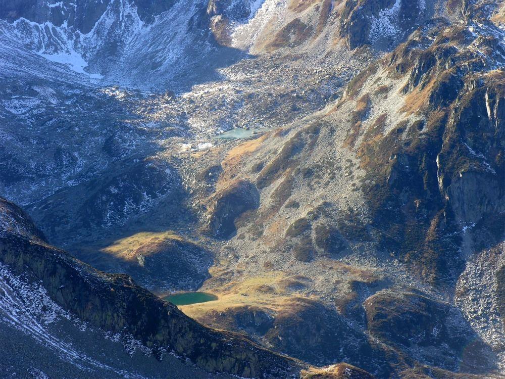 Vue sur les lacs Morétan
