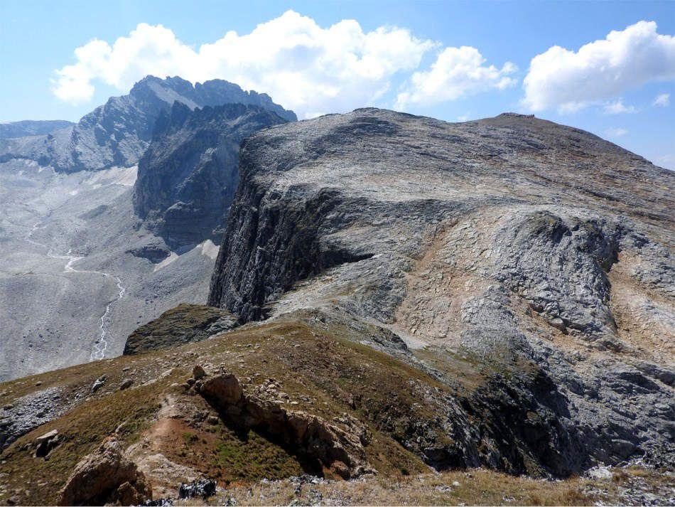 Vue sur le reliquat du glacier du plan d'Etache