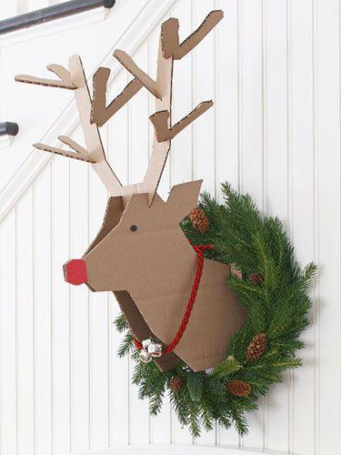 Rudolf en carton - (tutoriel gratuit - DIY)