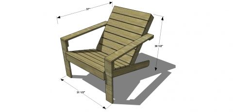 chaise de jardin tutoriel gratuit diy tutolibre. Black Bedroom Furniture Sets. Home Design Ideas