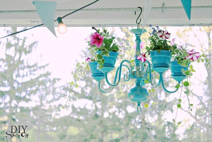 Chandelier porte plantes (tutoriel gratuit - DIY)