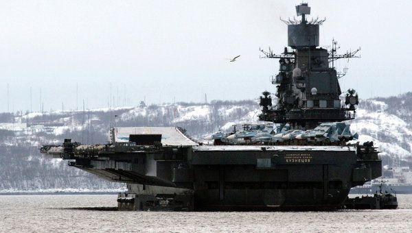 Le porte-avions russe Amiral Kouznetsov (Source : RIA Novosti)