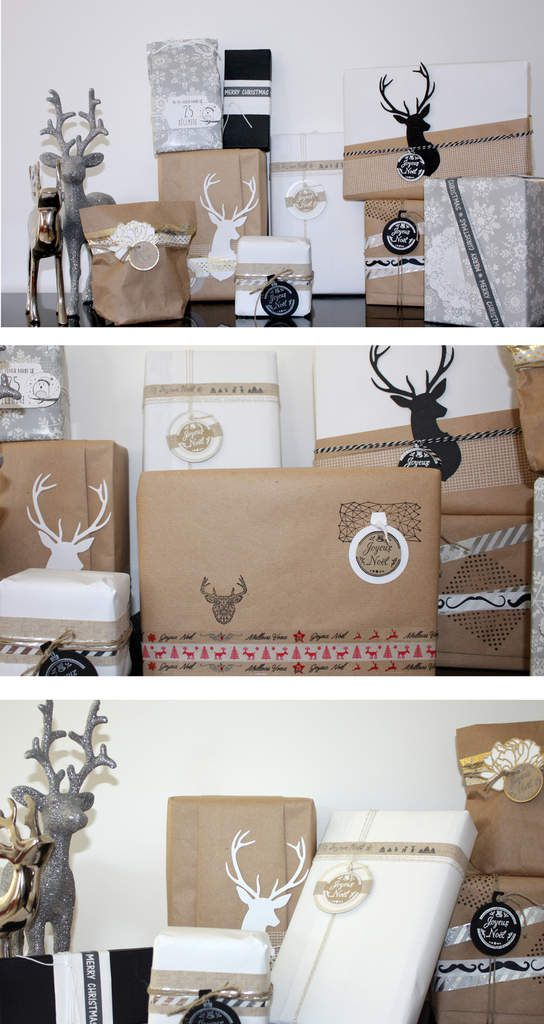 Sapin et emballages cadeaux : DT Flamingo Design Studio/ Lovely tape