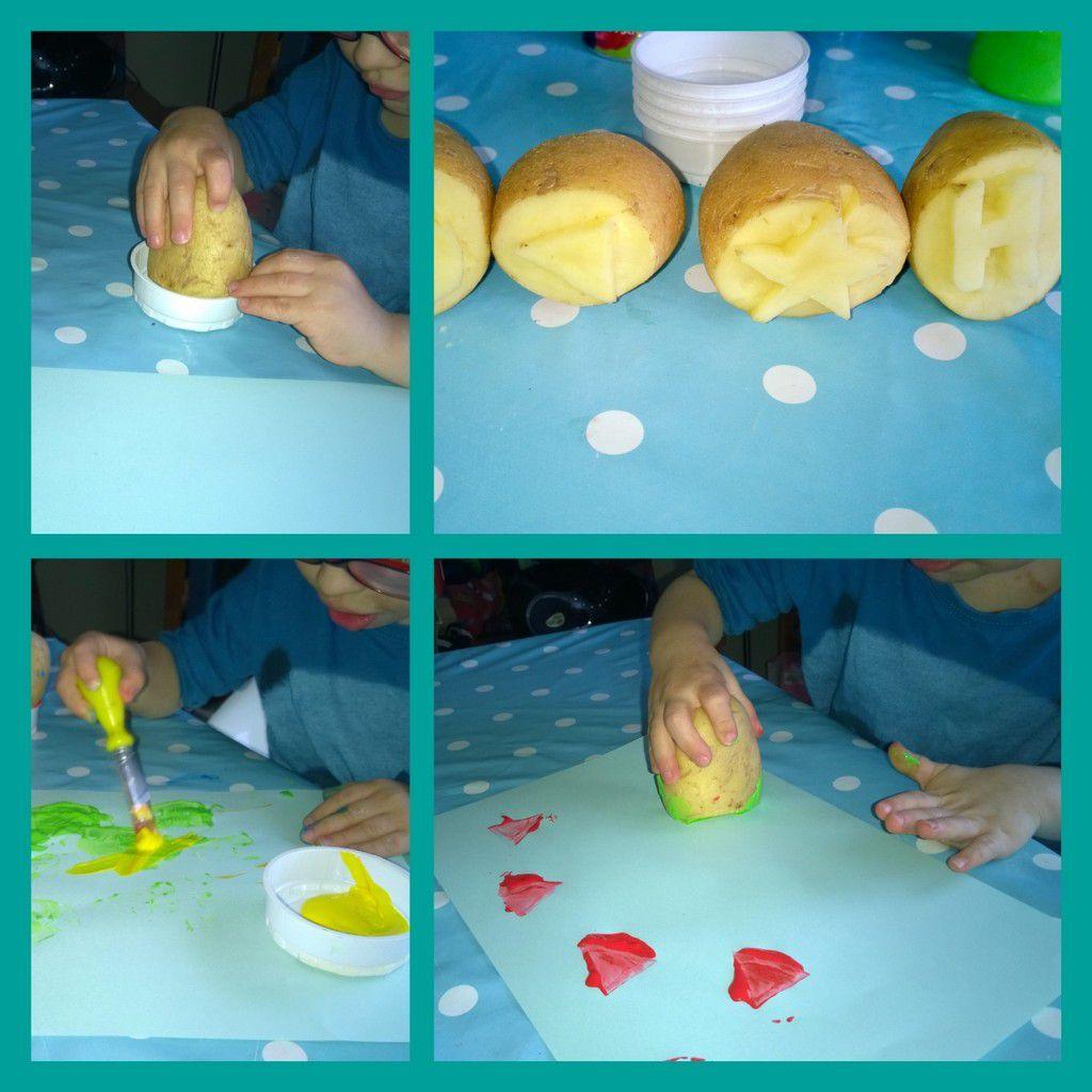 Tampons pomme de terre