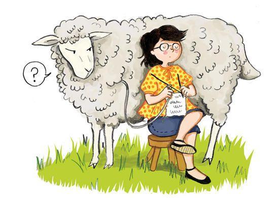 Ca me ressemble un peu, non pas le mouton !!!