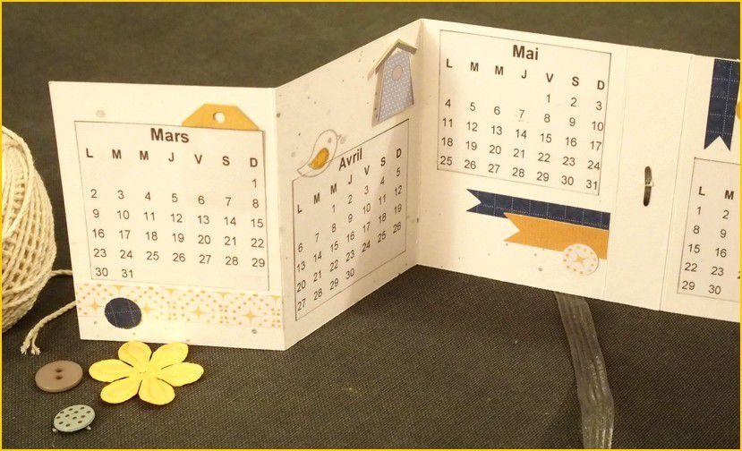 Val49 : Scrap brico enfants, un calendrier de poche.