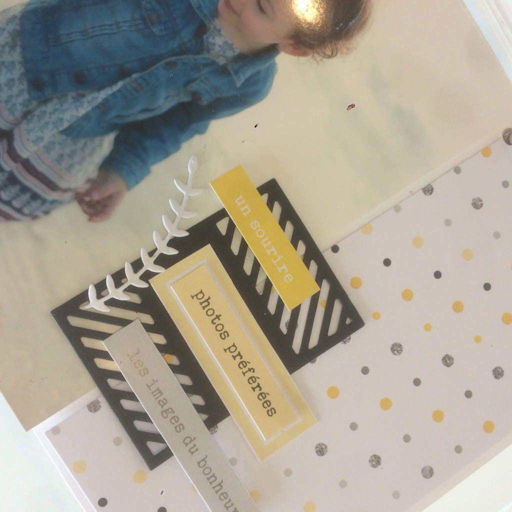 Marilyne &#x3B; un album jaune à poser