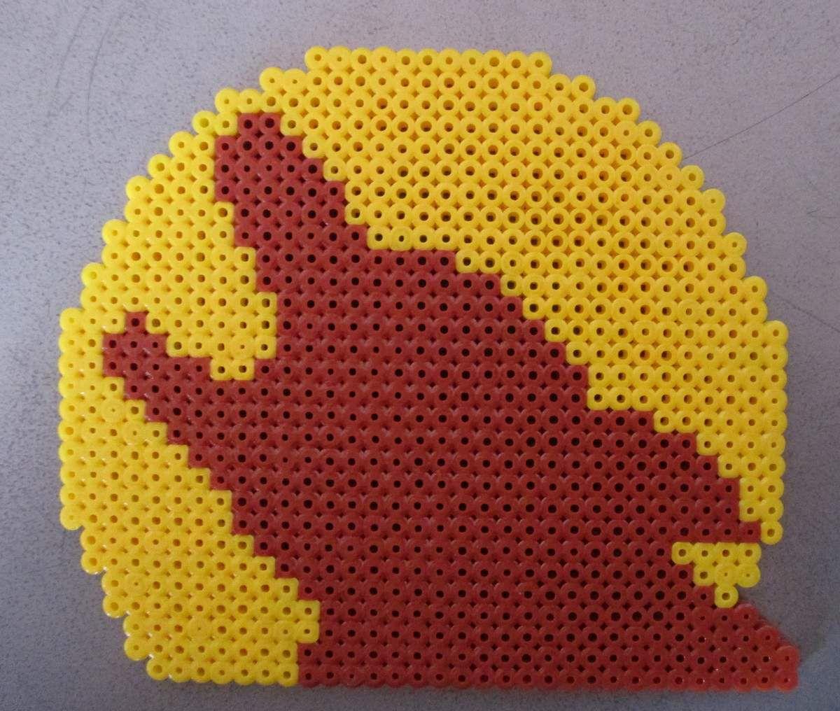 Loup En Perler Beads Pixel Art En Perle à Repasser