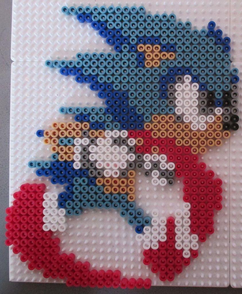 Sonic hama beads