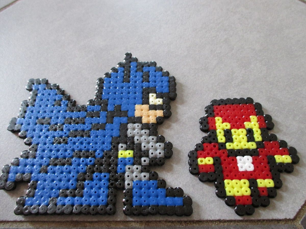 batman et iron man en perles repasser pixel art en perle repasser. Black Bedroom Furniture Sets. Home Design Ideas