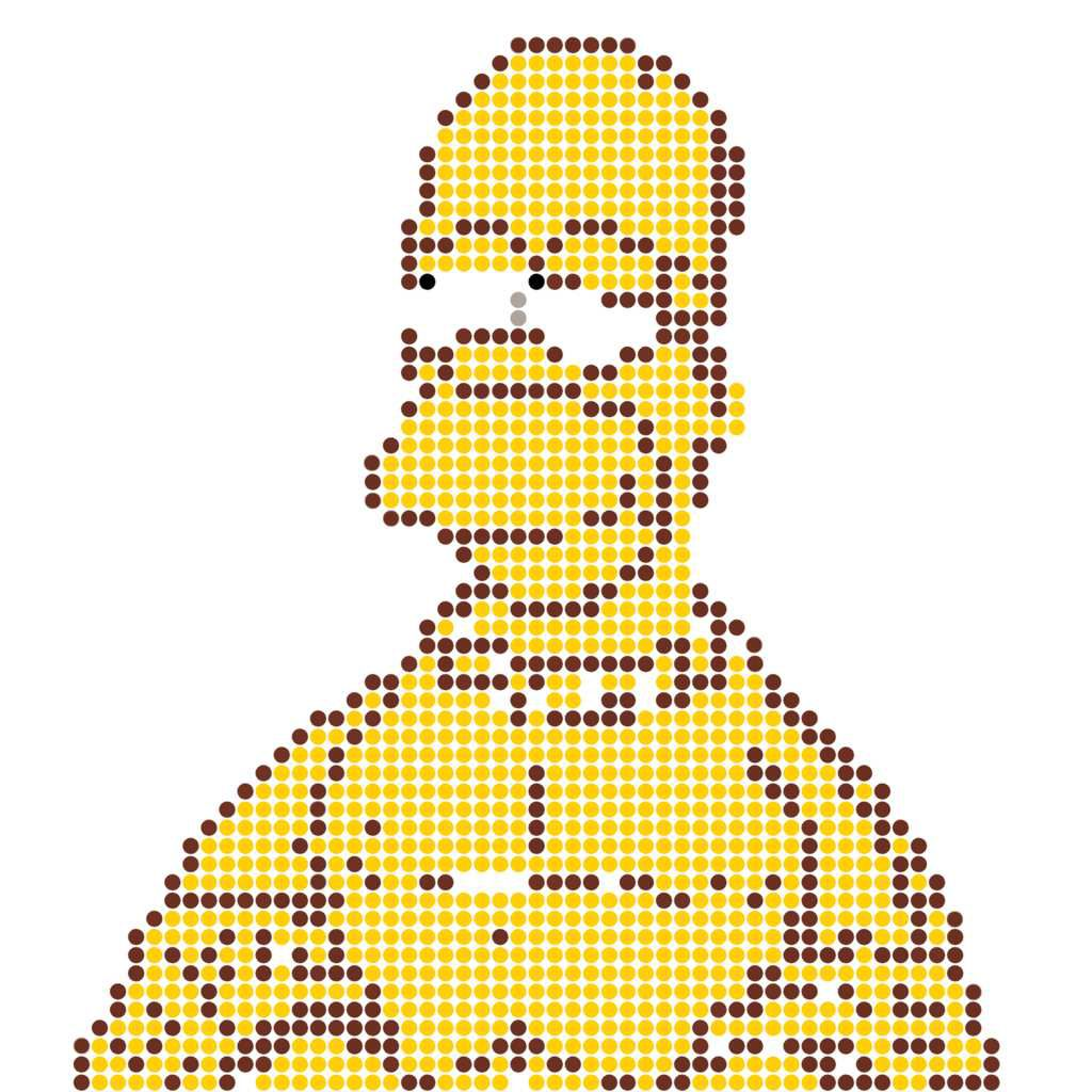 Homer Simpson hama beads