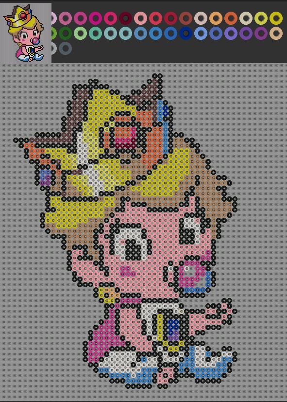 peach art pattern