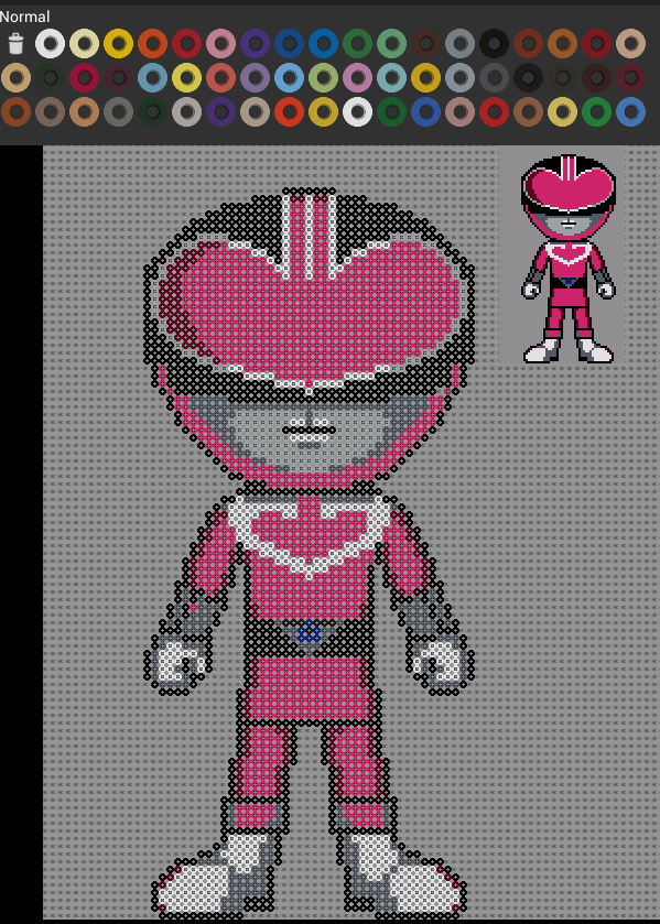 power ranger rose pixel art