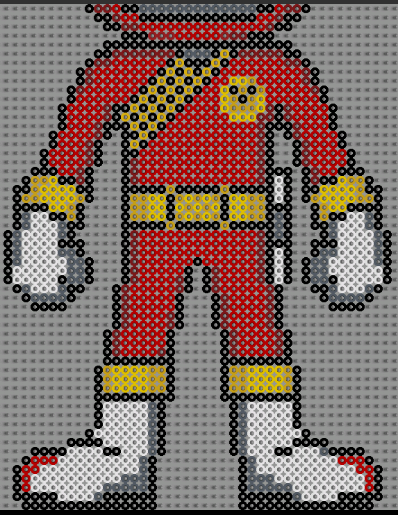 power ranger rouge pixel art