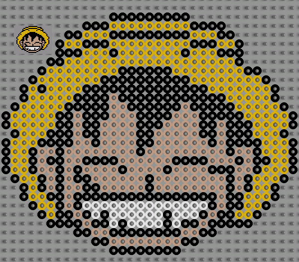 Sehr manga - pixel art en perle à repasser VL31