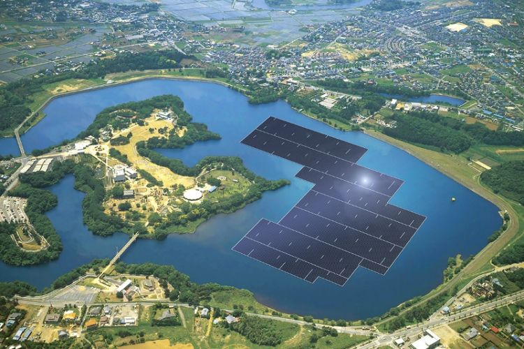 'World's biggest' floating PV project underway in Japan