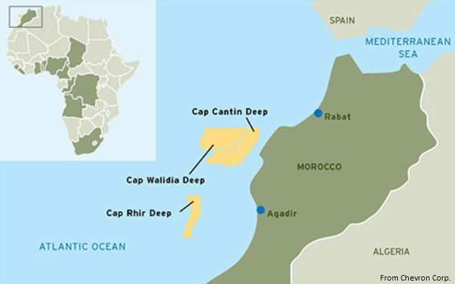 Qatar Petroleum joins Chevron in three Moroccan deepwater leases