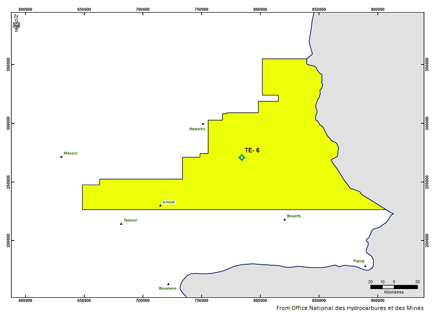 TE-6 exploration well spudded in northeastern Morocco