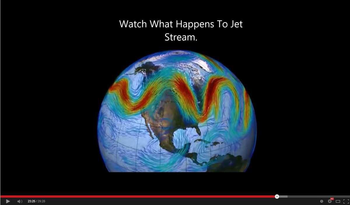 Regardez ce qui se passe avec le Jet Stream