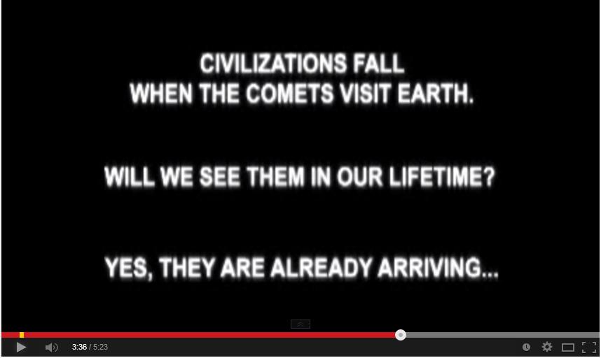 Les civilisations s'écroulent lorsque les comètes arrivent