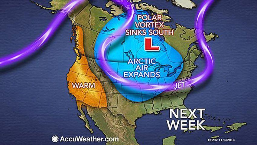 Vortex polaire – gel - fortes chutes de neige - vents violents - vagues énormes - fortes précipitations la semaine prochaine