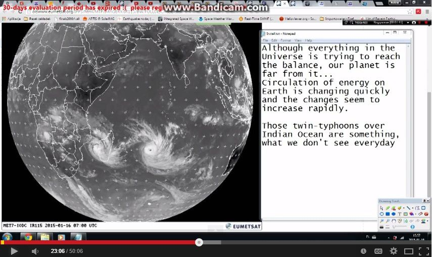 La circulation de l'énergie change - 2 typhons dans l'océan Indien , c'est rare ...