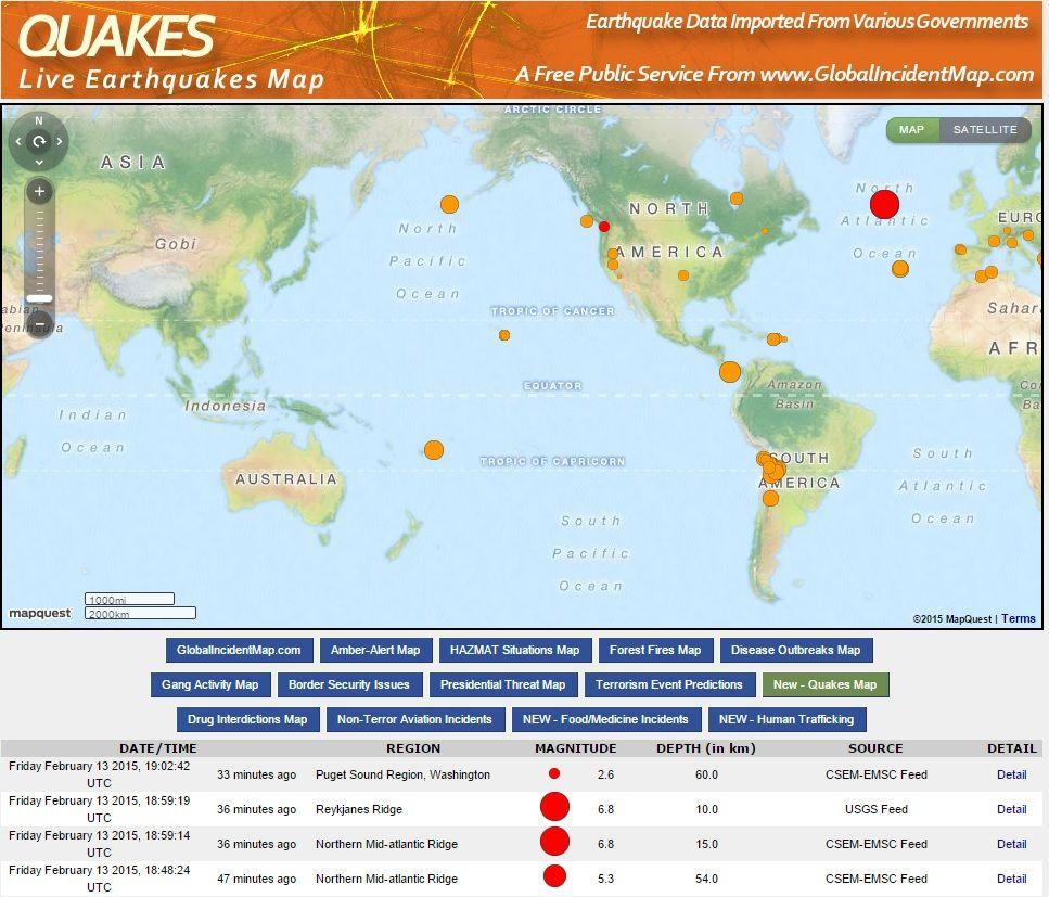 Un rare séisme de 6.8 en Atlantique Nord