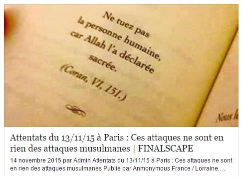 L'ambiance sur Facebook le lendemain des attentats contre la France