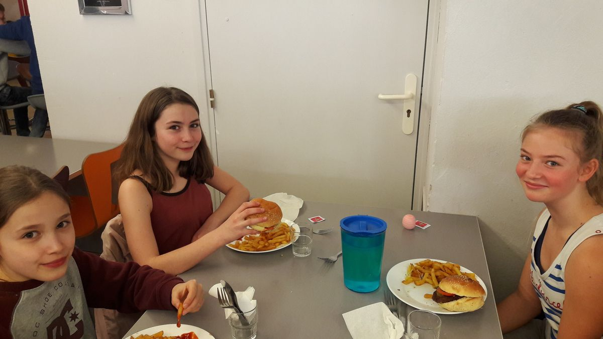 Ce midi, c'était Repas Américain !
