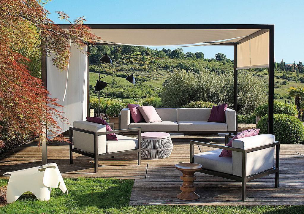 La tonnelle pliante pour le jardin cadly for Design patio exterieur