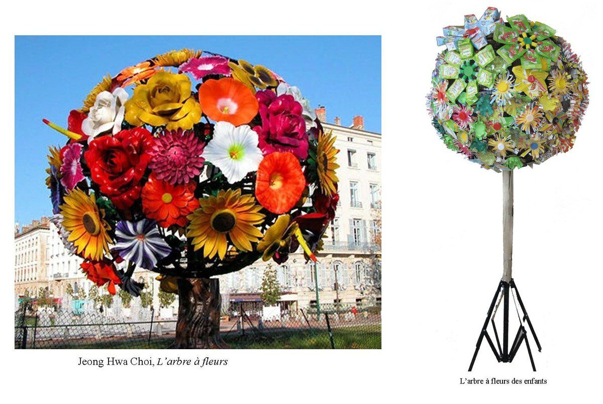 l'arbre à fleurs de choi jeong hwa (projet recycl'art) - tortue et