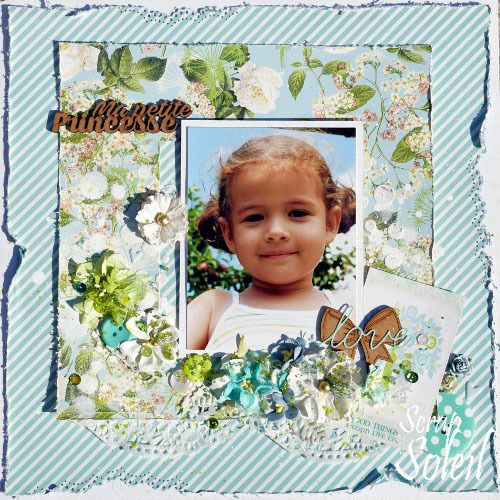 Ma petite princesse - une page shabby