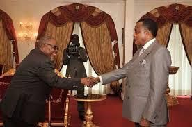 Sassou N'Guesso et Martin Mberi