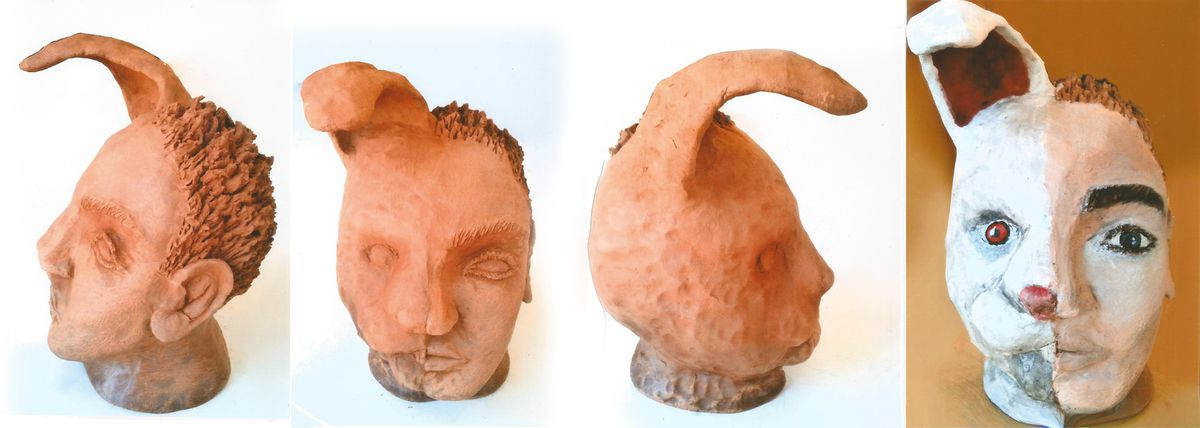 Autre hybridation faite en argile puis peinte / Another hybridization made with clay and then painted