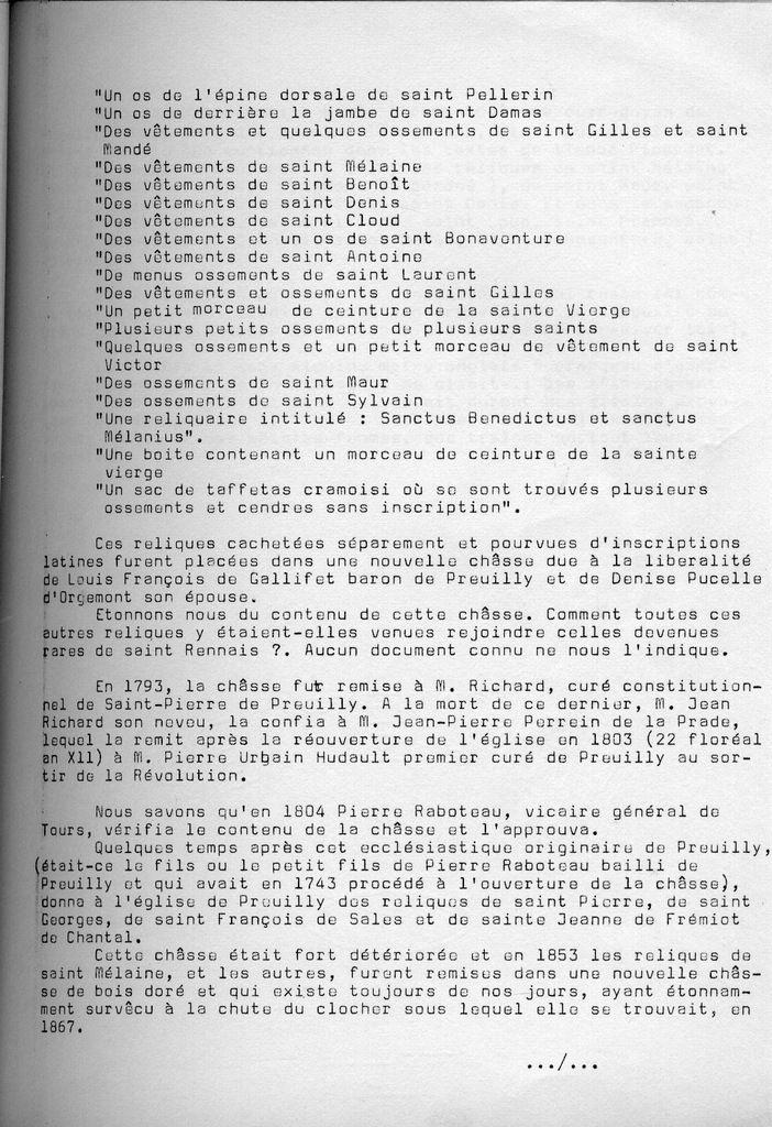 Cahiers de la Poterne n°1 : reliques de St Mélaine
