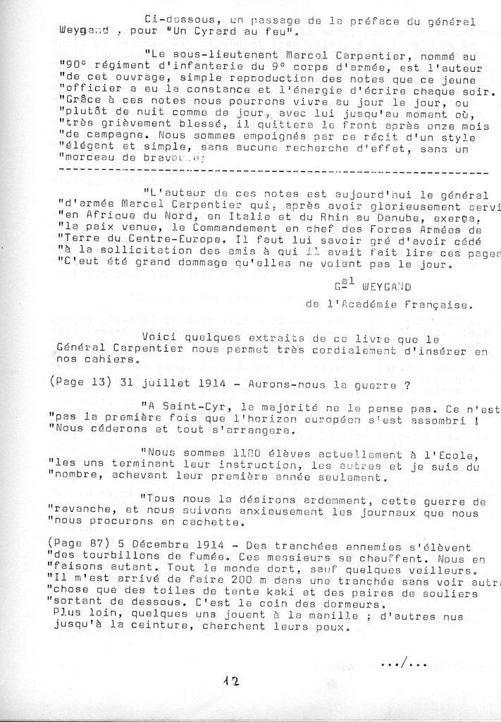 Cahier de la Poterne n° 3 : Général Marcel Carpentier